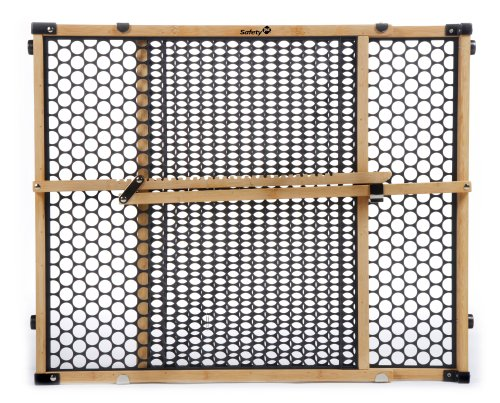 "Safety 1st Eco-Friendly Nature Next Bamboo Gate, Bamboo and Black, Fits Spaces Between 28"" and 42"" Wide"