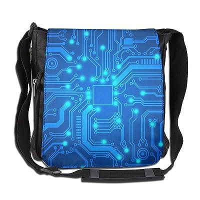 Psychedelic Abstract Pattern Fashion Print Diagonal Single Shoulder Bag
