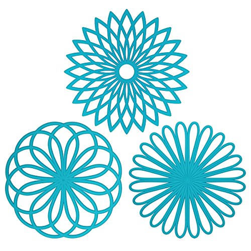 ME.FANTM Silicone Multi-Use Flower Trivet Mat(set of 3 Pack) Premium Quality Insulated Flexible Durable Non Slip