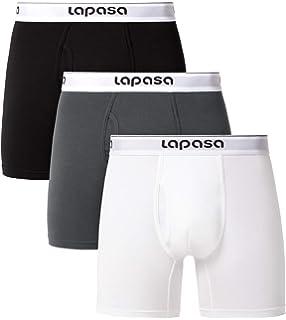 Wirarpa - Calzoncillos tipo bóxer de algodón elástico para hombre, 3 unidades, color negro: Amazon.es: Ropa y accesorios