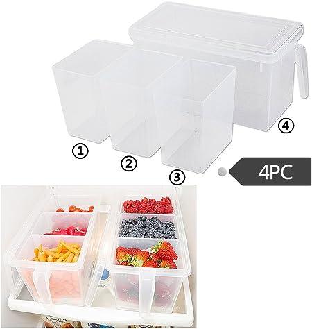 Morbuy 1PC Cocina Frigorifico Frigorifico Cajas Congelador Recipiente de Almacenamiento Caja Frigorífico Alimentos Caja Contenedor (D): Amazon.es: Hogar