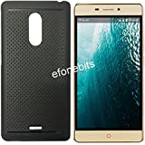 Efonebits(TM) Premium Dotted Black Rubberised Soft Back Case Skin Cover For Reliance Jio Lyf Water 7