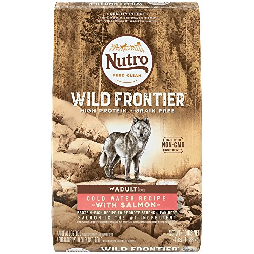 Nutro Wild Frontier  Adult Cold Water Recipe Grain Free Salmon Dry Dog Food 24 Pounds