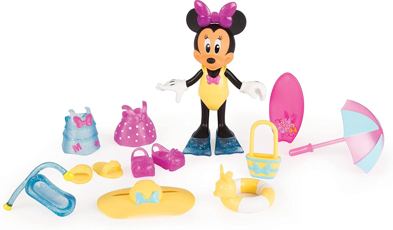 IMC Toys-Disney Figurina Minnie Dia de Playa con Accesorios (182189)