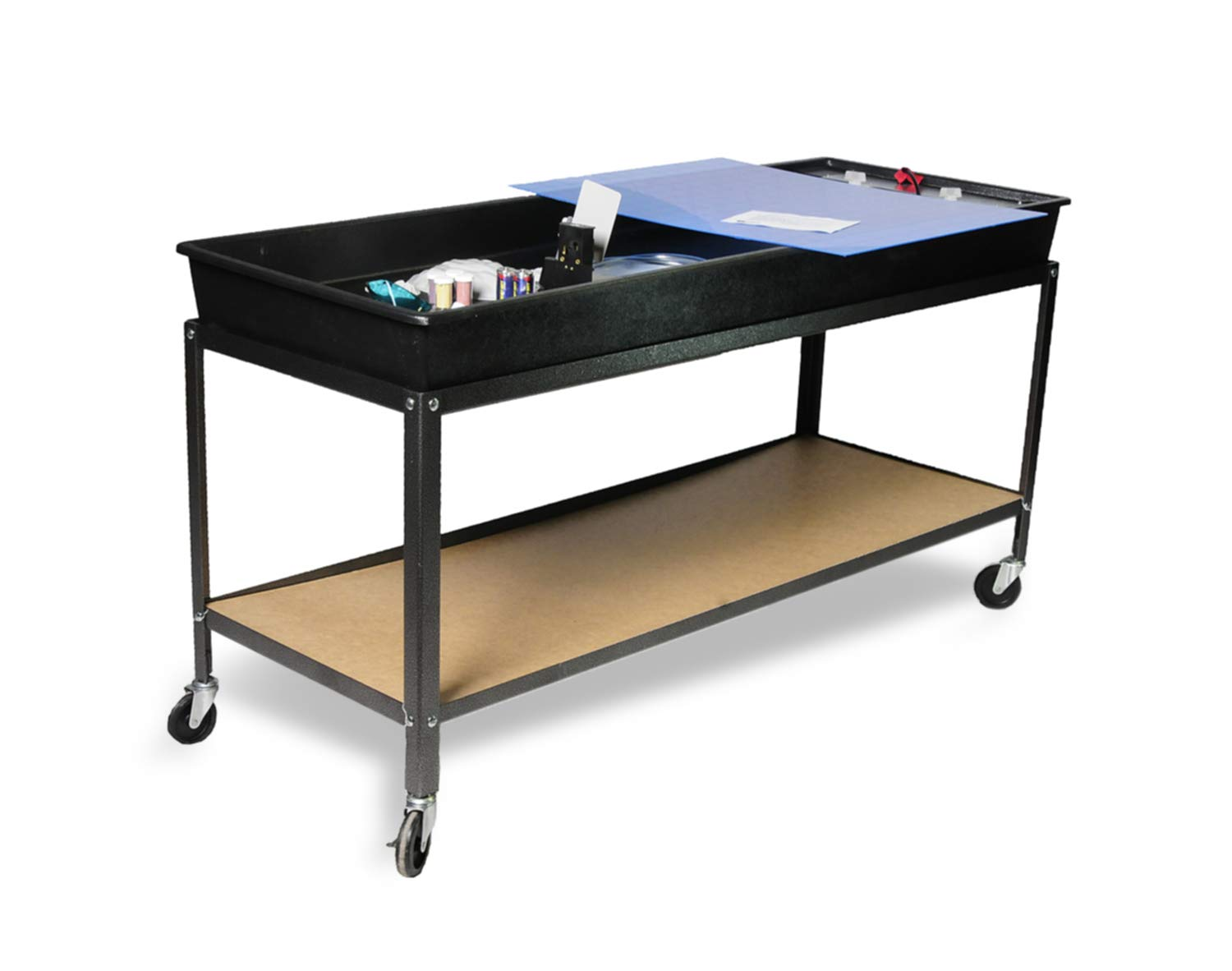 American Educational Plastic Hydro Geology Stream Table with Cart and Accessories, 66'' Length x 26'' Width x 6'' Depth by American Educational Products (Image #1)