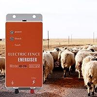 QianY-Tool Cerco eléctrico Solar Energizador Cargador Controlador de Pulso de Alto Voltaje Granja de Animales Cerco…