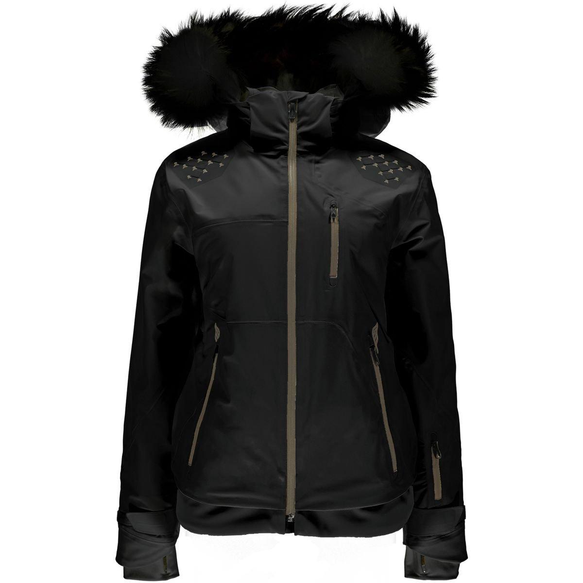 Spyder Diablaフード付きジャケット – レディース B0773GS1HY  ブラック/ブラック 6
