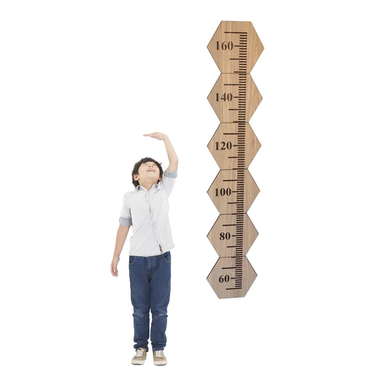 Habudda Baby Growth Chart DIY Wooden Height Chart Kids Room Decoration Height Ruller Nursery Wall Decoration (Wood)