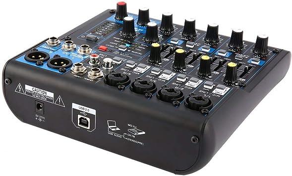 8 Canales DJ Profesional Powered Mixer Power Amplificador de ...
