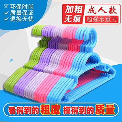 u-emember太字大人用プラスチックSlip Resistant non-marking服ラックホーム服極Hanging Wet & Dry Clothes Hangers、10、とマッシュアップのカラーを) B0786MH12Z