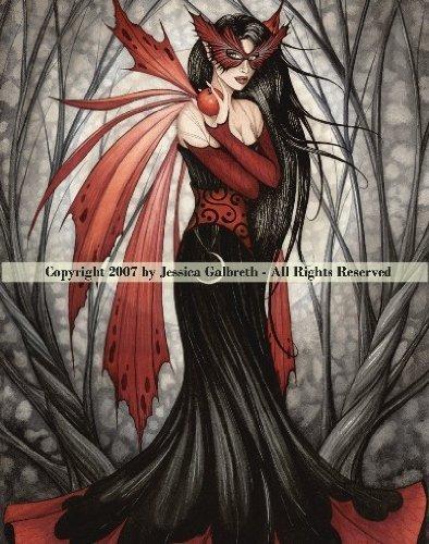 Mask of Autumn ~ Jessica Galbreth ~ Ceramic Sensations Fairy Art Tile