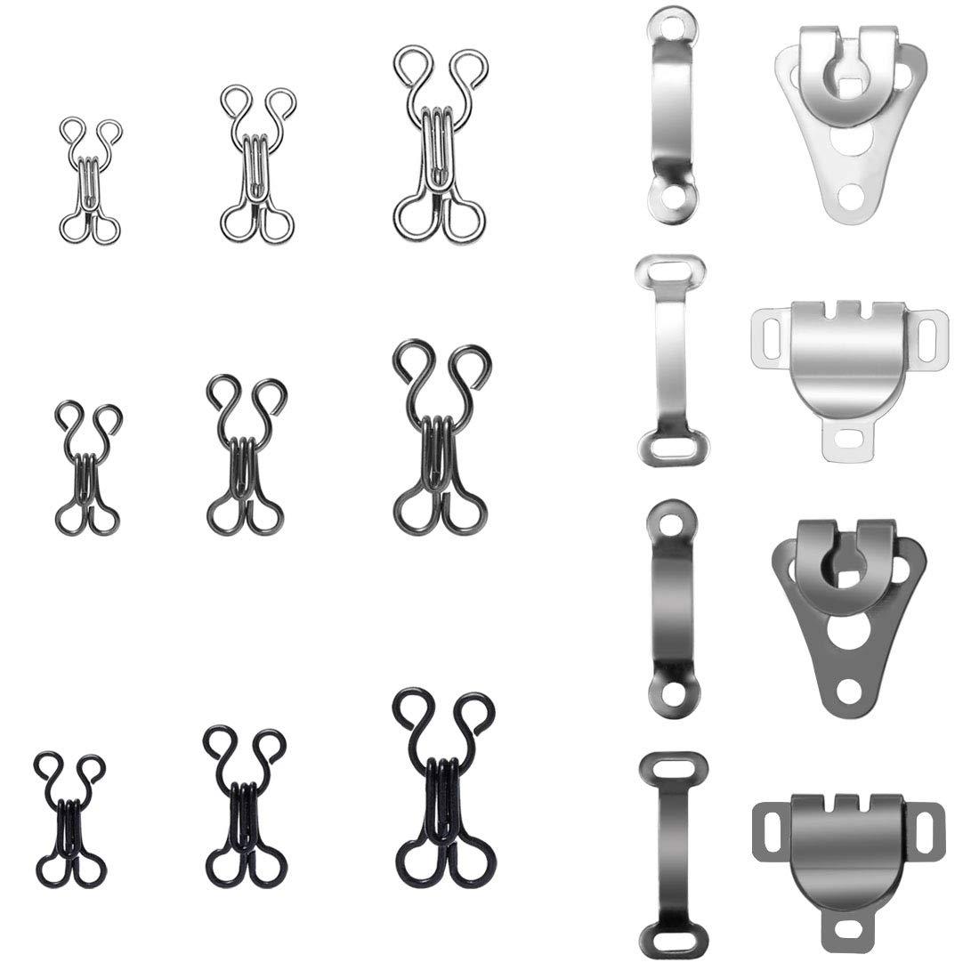 R/öcke 4 Gr/ö/ßen Homgaty 130 Paar N/ähhaken und /Ösenverschluss Ersatz-BH-Haken f/ür Hosen BH und Kleidung