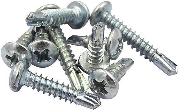 """#8 x 1-3//4/"""" Phillips Pan Head Self-Drilling Sheet Metal Screws 410 SST 100 pcs"""