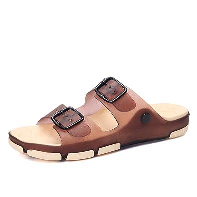 Amazon.com | Baqijian Summer Beach Slippers Sandals Casual Double Sandalias Women Slip on Flip Flops Flats Shoe | Flats