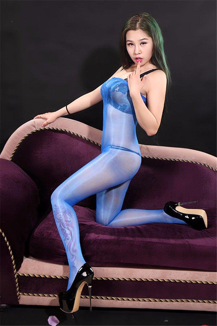 XiaoGao/_ Medias de Mamelucos de Stomacher Ultra Delgado Transparente Brillante de Cintura Alta,Color