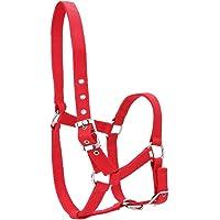 HEEPDD Brida de Caballo de 6 mm, Correas espesadas de Alta Densidad Ajustables Control de caballado Cabalgatas Accesorios Color Rojo