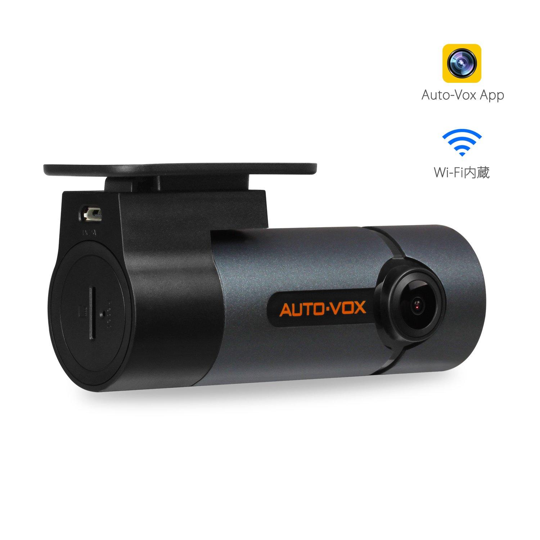 AUTO-VOX D6 PRO WIFI スマートフォン連携型 ドライブレコーダー 1080P フルHD 衝撃センサー WDR搭載 常時録画 B073F4TVQC  DVRD6 Pro