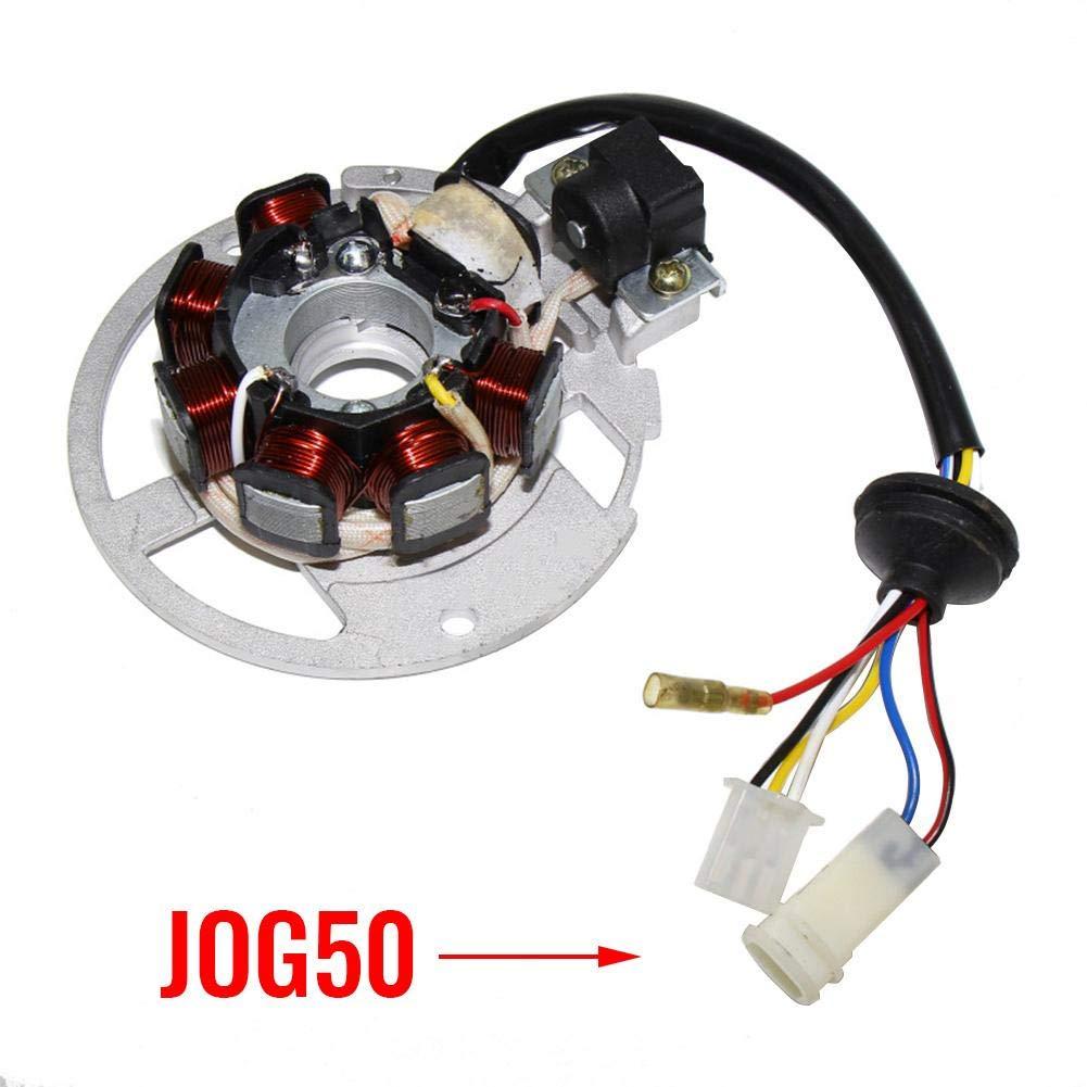 Teabelle Estator Magneto Compatible con Apache Apto para 50cc 100cc Quad Bike ATV 2 Scooter de carrera JOG50