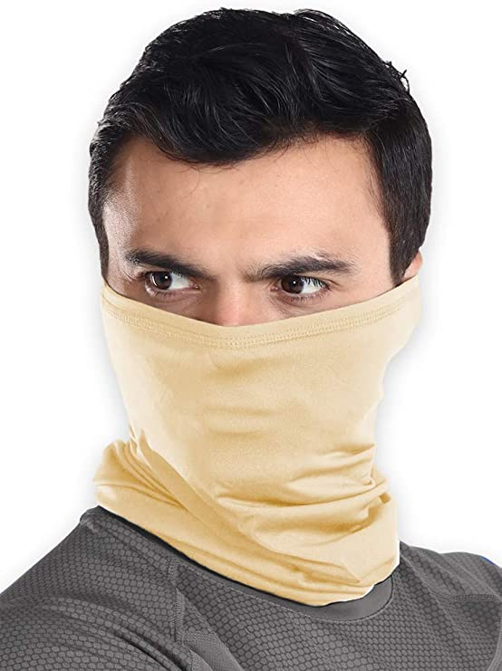 Cooling Face Scarf Sun Shield Neck Gaiter Balaclav Neckerchief Bandana Head Ti