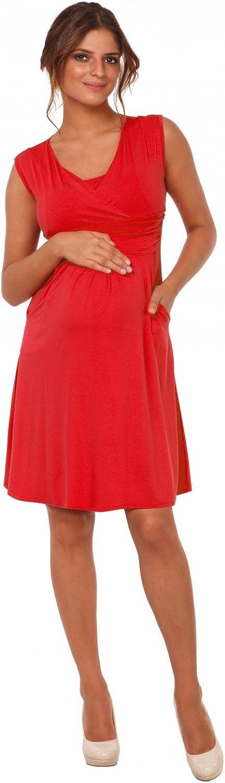 Donna Vestito pr/émaman per LAllattamento Abito con Tasche Happy Mama 500p