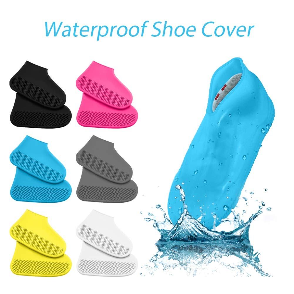 1 Paire Couvre-Chaussures de Pluie antid/érapants Etophigh Couvre-Chaussures imperm/éables en Caoutchouc antid/érapants r/éutilisables en Silicone