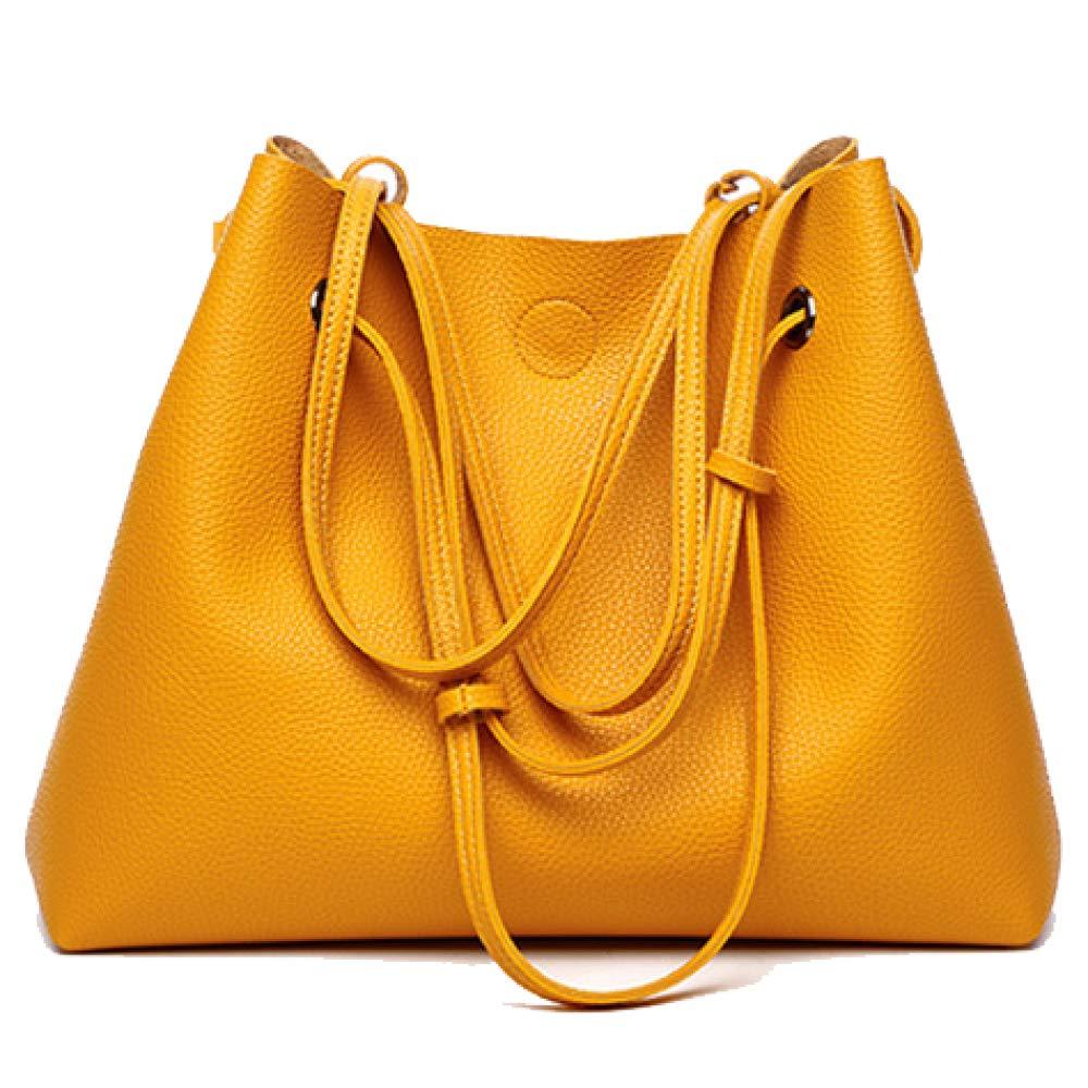 096cb07e403a6 NDHSH damen Trendy Large Capacity Schultertasche Aus Weichem Leder Leder  Leder Handtasche Griff Taschen Messenger Bags Lange Schultergurt  Freizeittasche ...