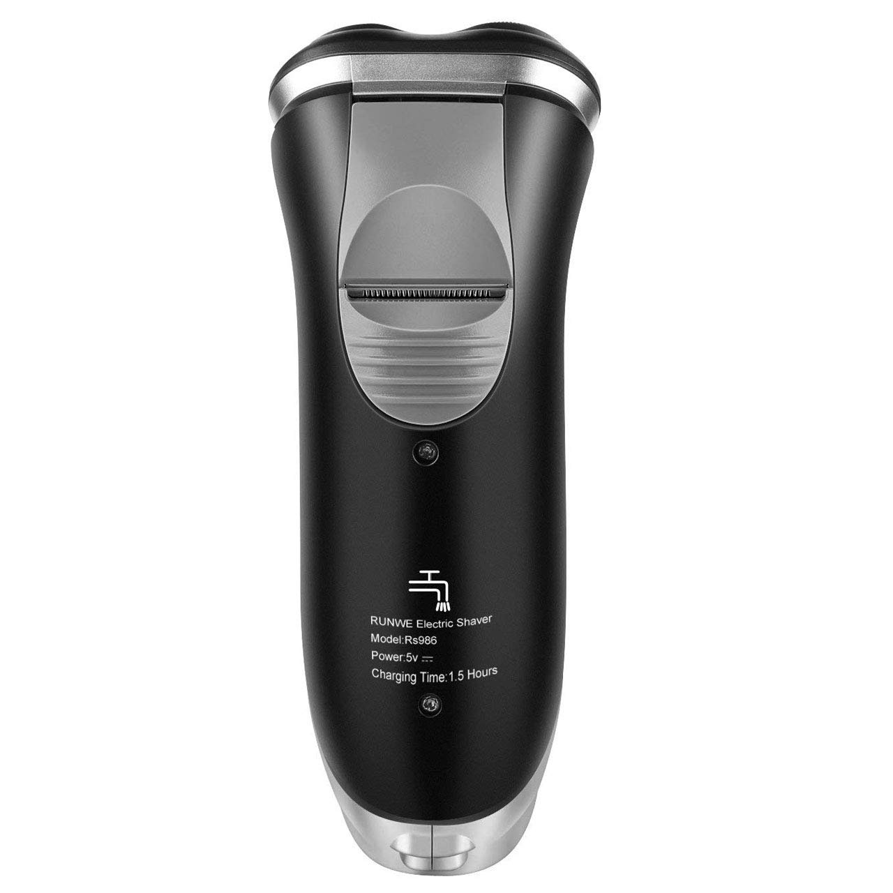 Cordless Men's Electric Rotary Shaver Wet and Dry Razor with Beard Trimmer