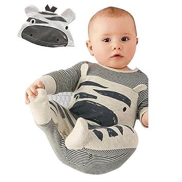 a7aa83619 Rcool Newborn Infant Baby Boys Girls Romper+Hat Jumpsuit Bodysuit ...
