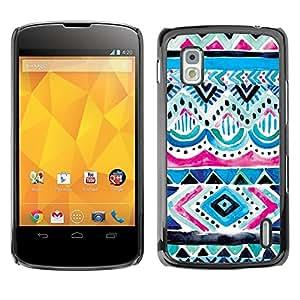 Be Good Phone Accessory // Dura Cáscara cubierta Protectora Caso Carcasa Funda de Protección para LG Google Nexus 4 E960 // Paint Kids Child Cute Pattern
