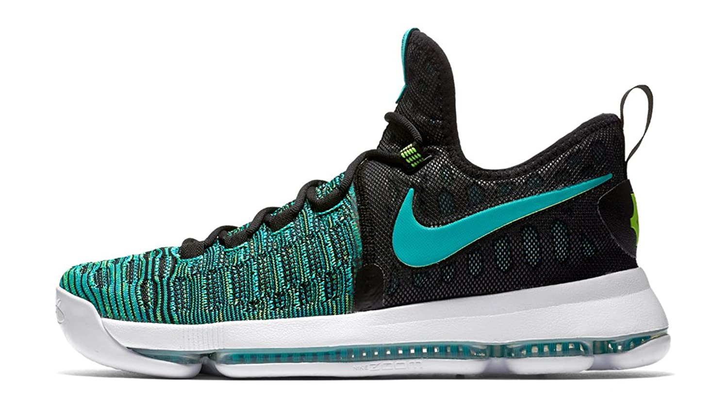 NIKE ZOOM KD 9 KEVIN DURANT BIRDS OF PARADISE JADE BLACK 843392-300 8 10 13
