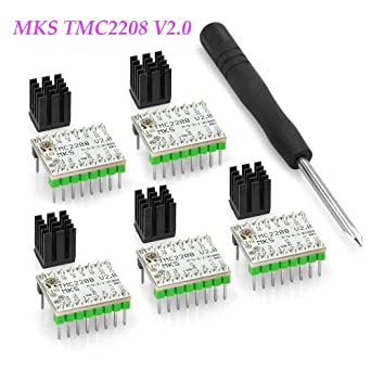 Amazon.com: BZ 3D MKS TMC2208 V2.0 Controlador de motor paso ...