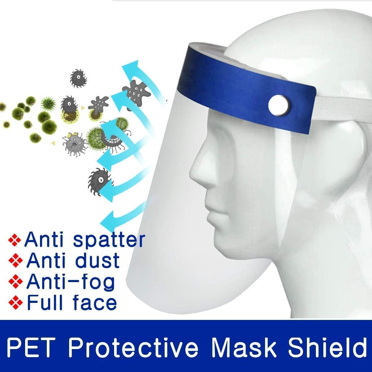 6 Pi/èces en Plastique visi/ère /écran Facial Protection des Yeux r/églable Transparent,Pet Anti-bu/ée Visi/ère faciale
