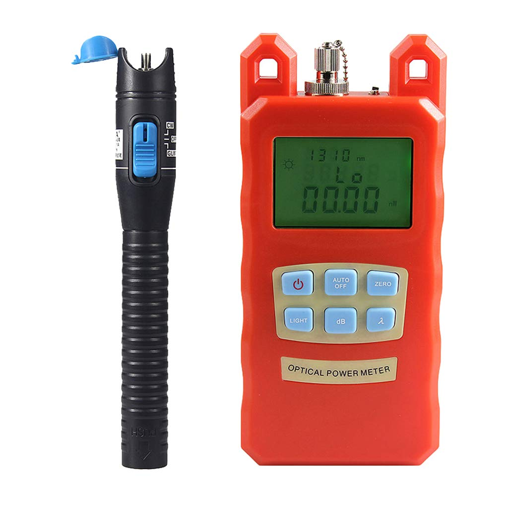 Prettyia Pack Fiber Optic Cable Tester Optical Power Meter with Sc & Fc Connector Fiber Tester +1mW Visual Fault Locator for CATV Test,CCTV Test by Prettyia (Image #1)