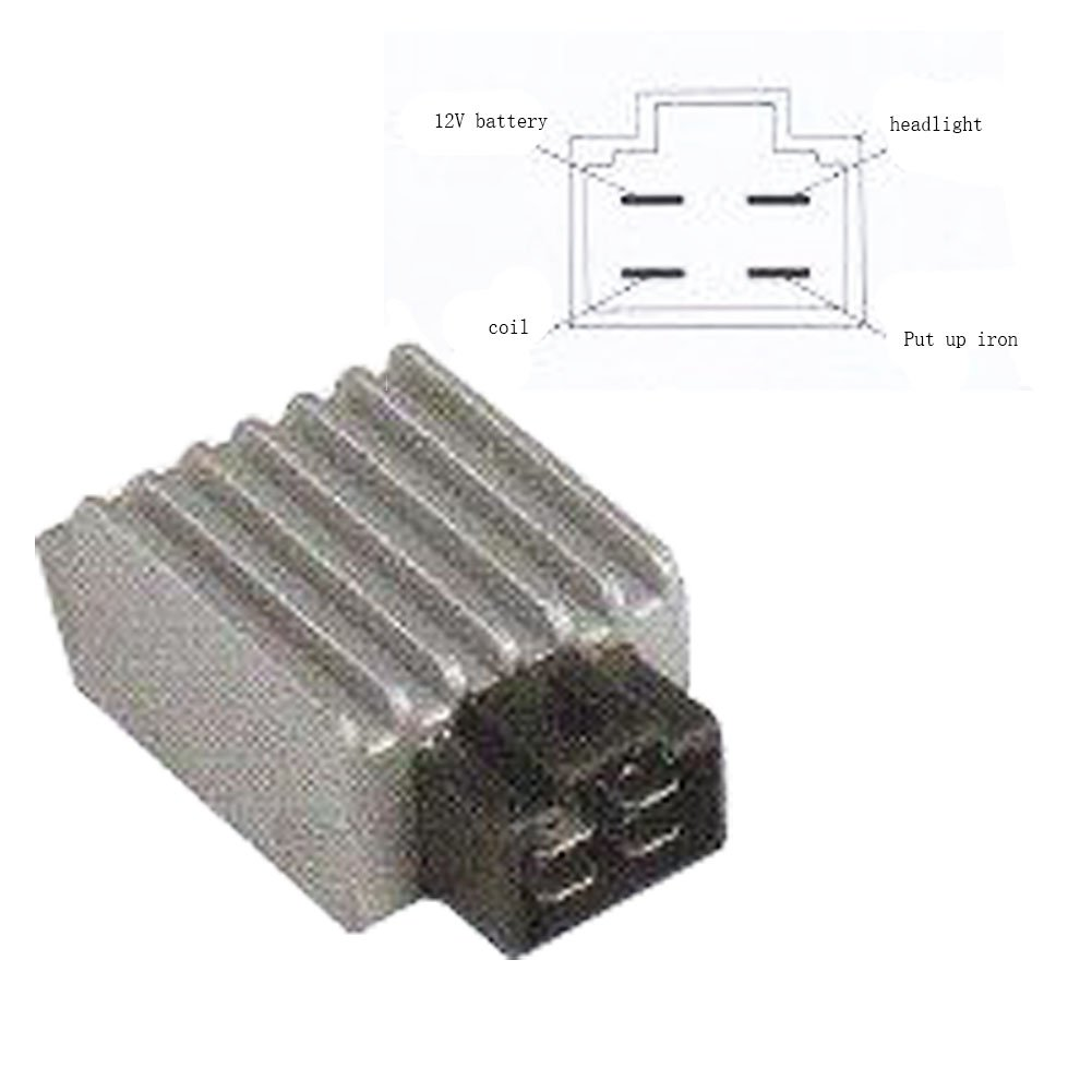 Amazon.com: GOOFIT 4 Pin Voltage Regulator Rectifier GY6 50cc 60cc 80cc  125cc 150cc Chinese Moped Scooter ATV: Automotive