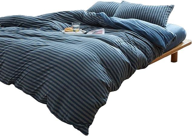 MIAOLIDP Edredón de algodón de Cuatro Piezas de algodón de Punto nórdico sábanas lavadas: Amazon.es: Hogar