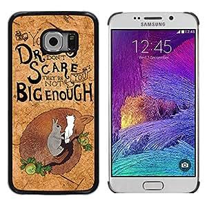 FECELL CITY // Duro Aluminio Pegatina PC Caso decorativo Funda Carcasa de Protección para Samsung Galaxy S6 EDGE SM-G925 // Cork Koala Quote Motivational Australia