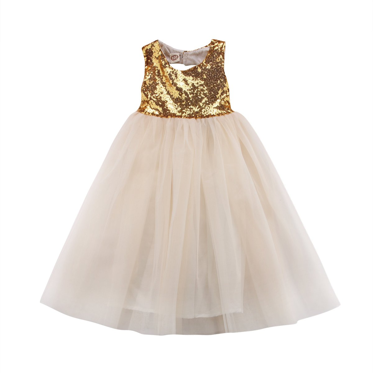 Imcute Little Girls Kids Sleeveless Sequin Princess Tutu Tulle Dress