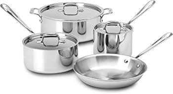 All-Clad Tri-Ply Stainless Steel 7-Piece Cookware Set