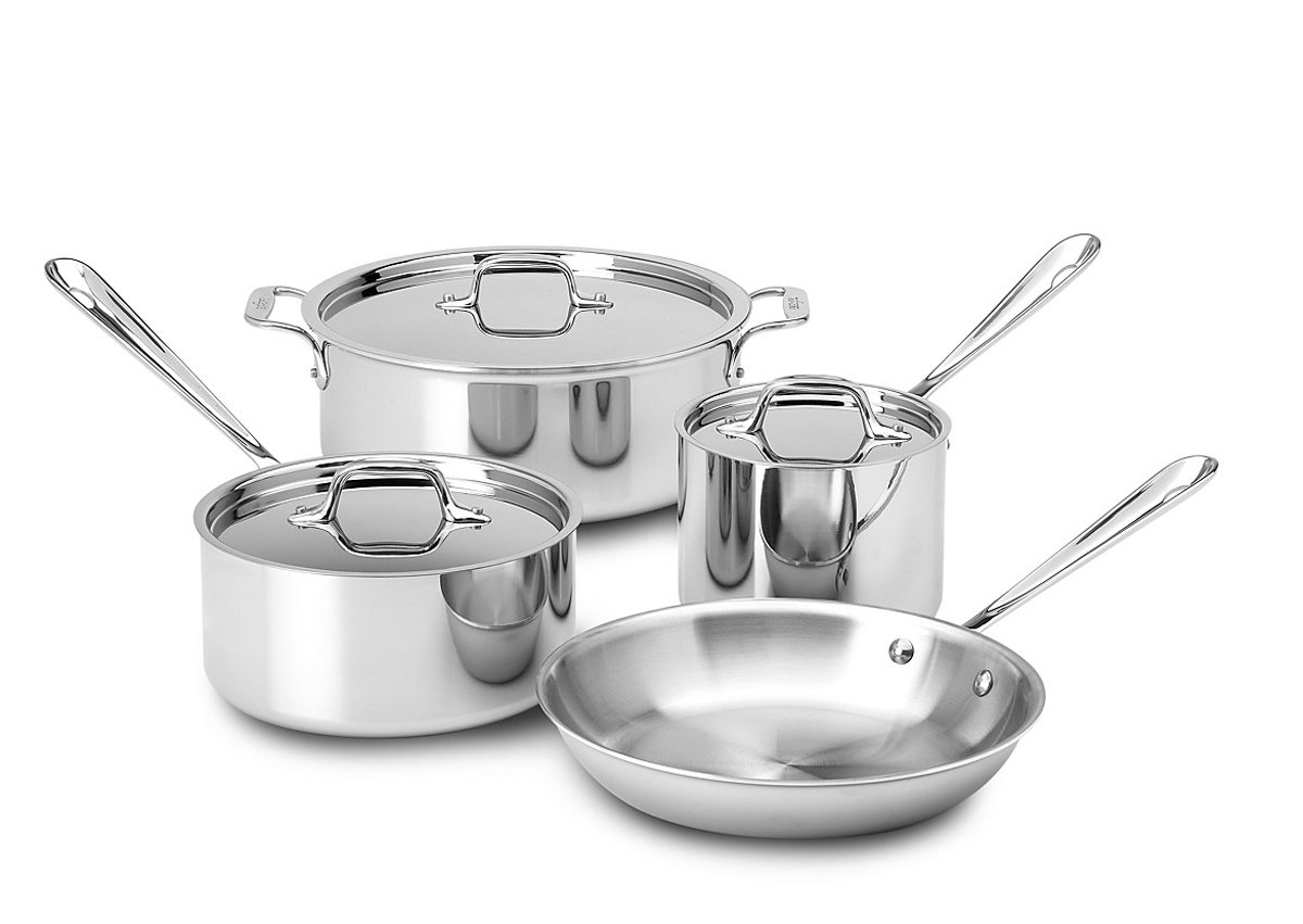 Ply Stainless Steel 8400000270 All-Clad 7 Piece Tri