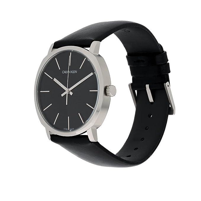 Calvin Klein Reloj Analógico para Hombre de Cuarzo con Correa en Cuero K8Q311C1: Amazon.es: Relojes