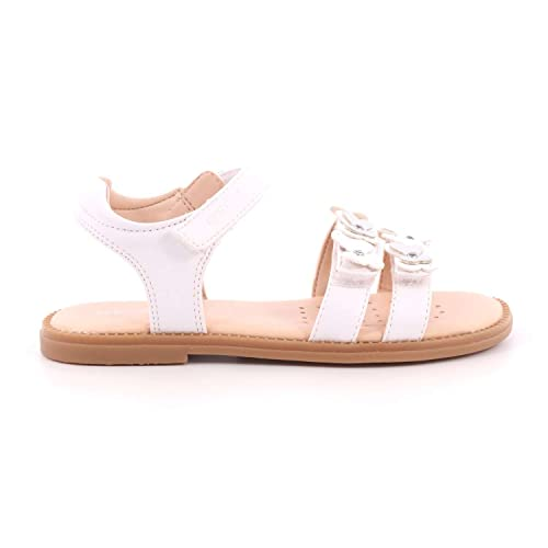 f3555fe3b95140 Geox Junior Karly Butterfly Girls Sandals 24 M EU  8 M US Toddler White