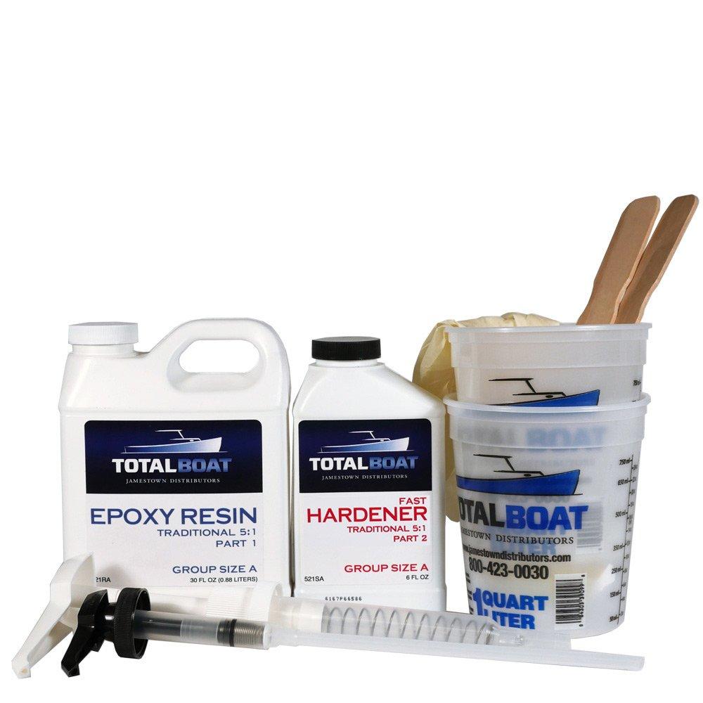 TotalBoat 5:1 Epoxy Kit (Quart, Fast Hardener)