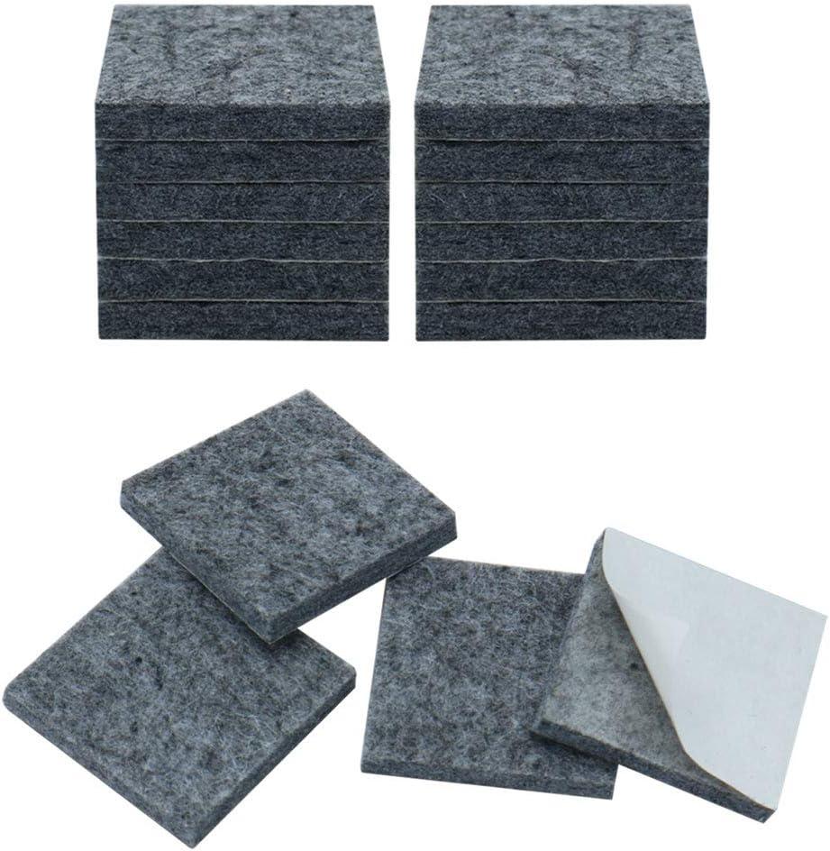 10 unidades, autoadhesivas, antideslizantes Almohadillas cuadradas para muebles color gris Sourcingmap