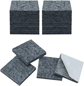 uxcell 16pcs Furniture Pads Square 1 5/8