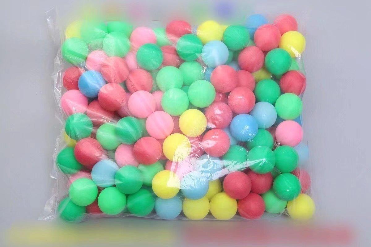 10 Gemischte Farbe Tischtennisbälle ohne Aufdruck Doyeemei