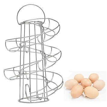 Vencer Deluxe Moderno dispensador de huevos metálico en espiral