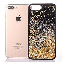 iPhone 6s plus case,liujie Liquid Cool Quicksand Moving Stars Bling Glitter Floating Dynamic Flowing Case Liquid Cover for Iphone 6s plus 5.5inch (Hei-6#)