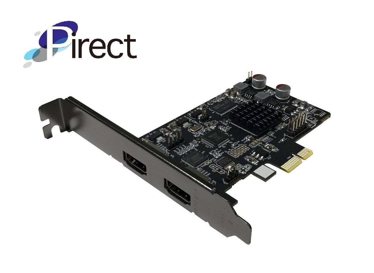 Pirect Uldra-P60 Video Capture Card, True 60fps Recording and Streaming @1080p, Ultra Low Latency Preview, H.264/AVI Software encoding, PCI-Express x1 (Pirect Uldra-P60)