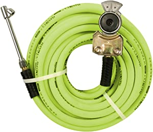 Flexzilla Truck Tire Inflator Kit with 3/8 in. x 50 ft. Hose, Heavy Duty, Lightweight, Hybrid, ZillaGreen - HGH2-FZ