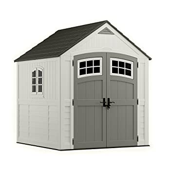 Suncast BMS7790 ® Premium Large Outdoor Resin Garden Shed U2013 Constructed Of  High Quality Durable Double